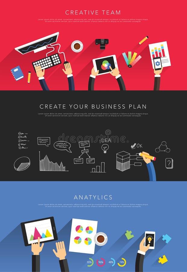 Vettore piano dei modelli di affari illustrazione di stock