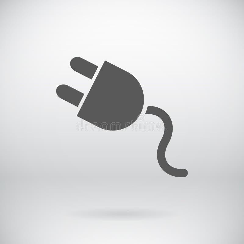 Vettore piano del segno della batteria che carica simbolo di energia illustrazione di stock