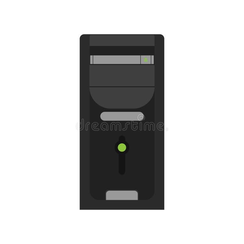 Vettore piano dell'ufficio del PC dello scrittorio del computer Icona di progettazione di affari illustrazione vettoriale