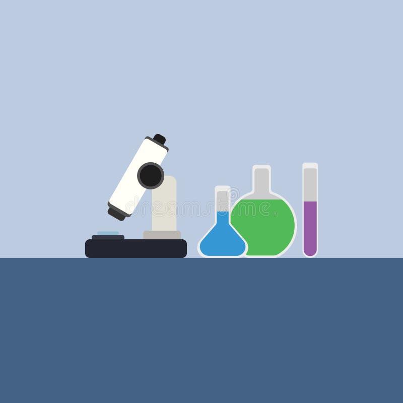 Vettore piano delle boccette di chimica fotografia stock libera da diritti