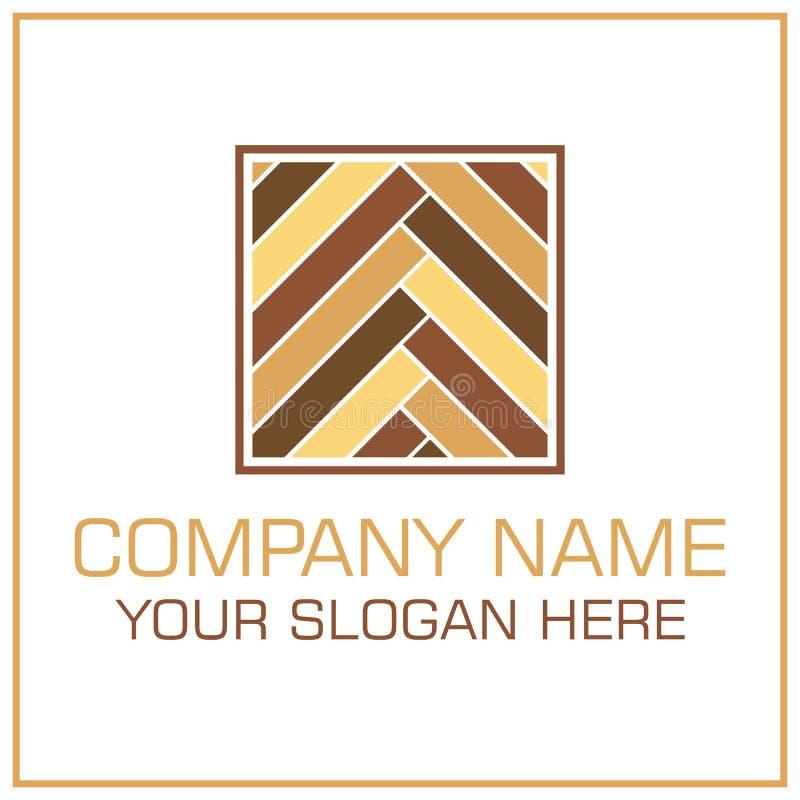 Vettore piano Logo Laminate/parquet di stile per Flooring Company illustrazione vettoriale