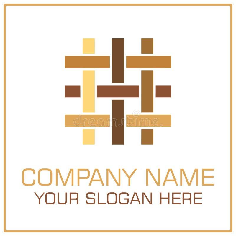 Vettore piano Logo Parquet/laminato di stile per Flooring Company royalty illustrazione gratis