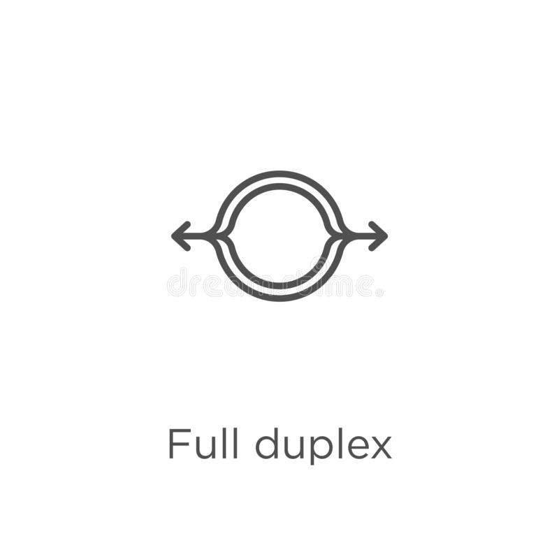 vettore pieno duplex dell'icona dalla raccolta di g Linea sottile illustrazione piena duplex di vettore dell'icona del profilo Pr illustrazione di stock