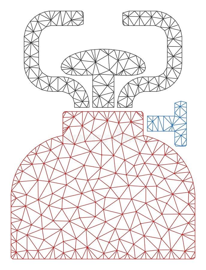 Vettore poligonale Mesh Illustration della struttura del bruciatore illustrazione di stock