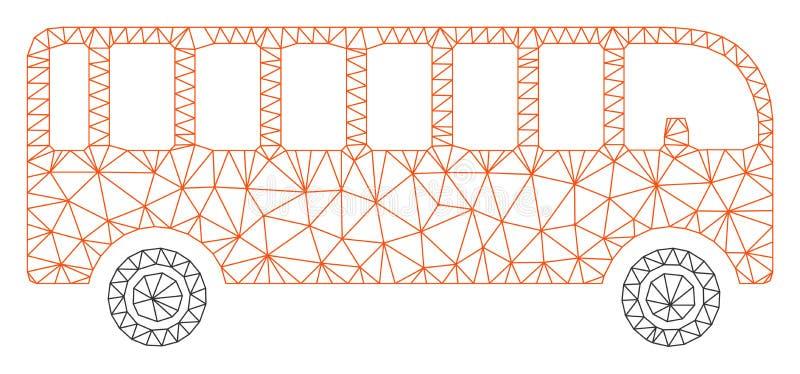 Vettore poligonale Mesh Illustration della struttura del bus royalty illustrazione gratis