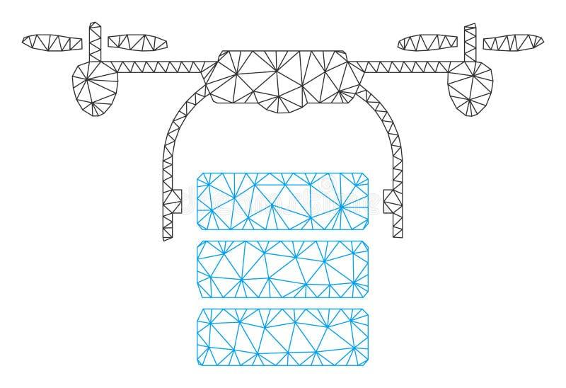Vettore poligonale Mesh Illustration della struttura del fuco del carico illustrazione vettoriale