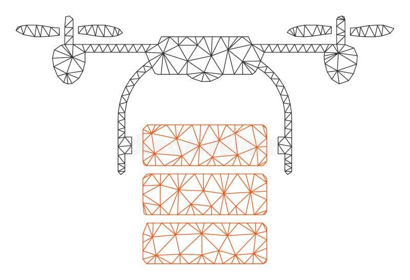 Vettore poligonale Mesh Illustration della struttura del fuco del carico royalty illustrazione gratis
