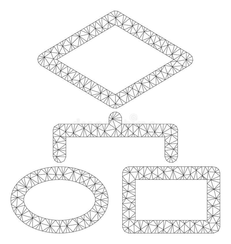 Vettore poligonale Mesh Illustration della struttura di algoritmo illustrazione vettoriale