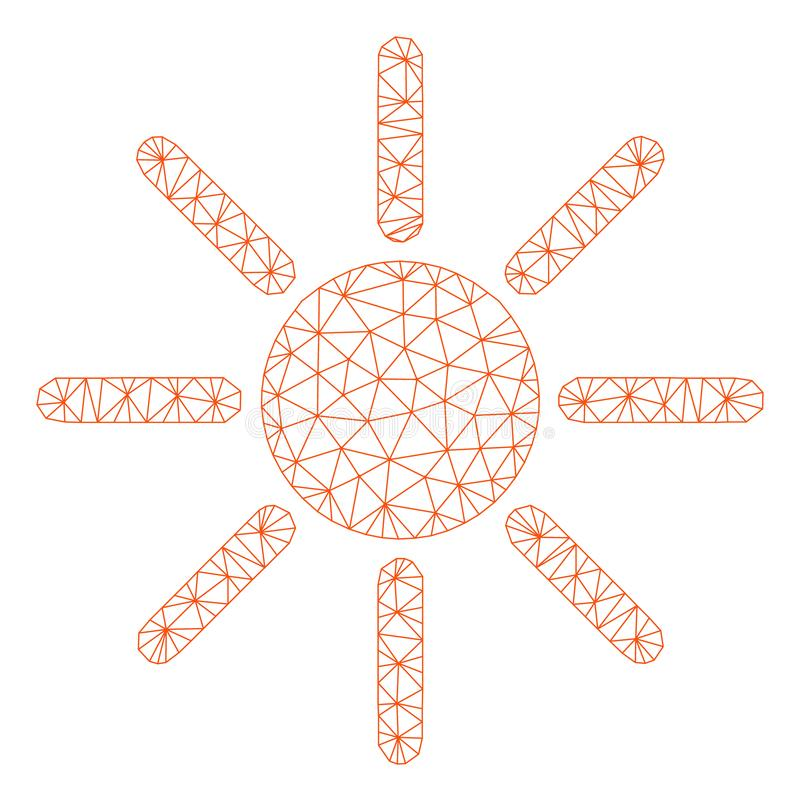 Vettore poligonale Mesh Illustration della struttura di luminosit? illustrazione vettoriale