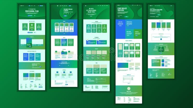 Vettore principale di progettazione della pagina Web Concetto di affari del sito Web Modello di atterraggio Gruppo lavorante Azie royalty illustrazione gratis