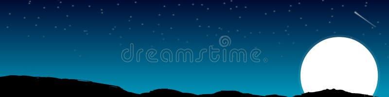Vettore - priorità bassa di notte royalty illustrazione gratis