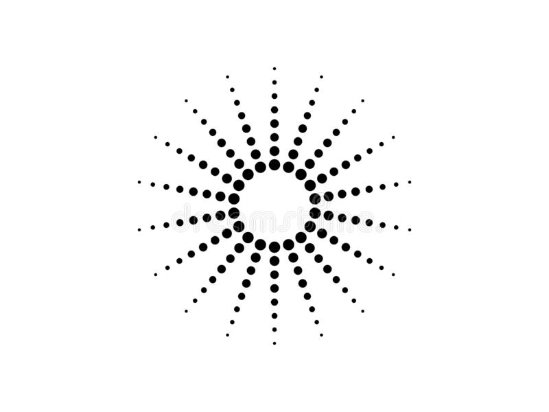 Vettore punteggiato del cerchio illustrazione vettoriale