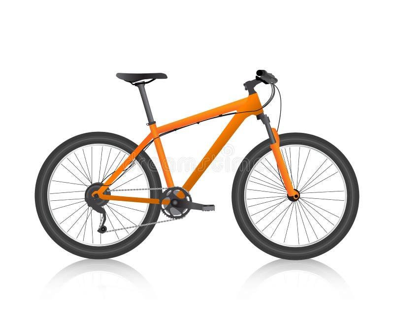 Vettore realistico dell'arancia del mountain bike illustrazione vettoriale