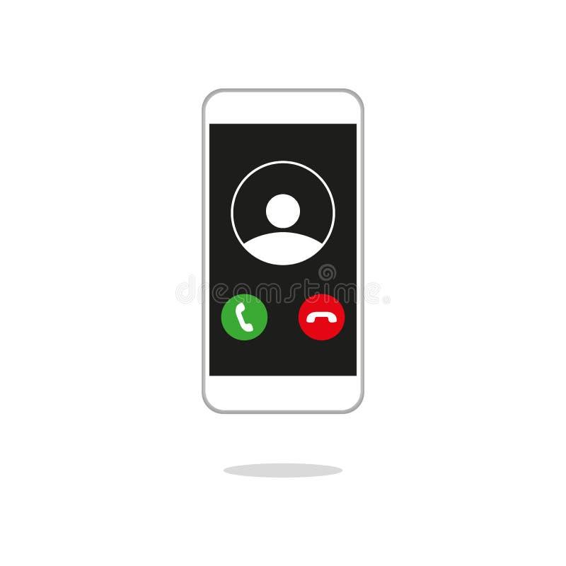 Vettore ricevuto generico dell'interfaccia utente dello schermo di telefonata UI illustrazione di stock