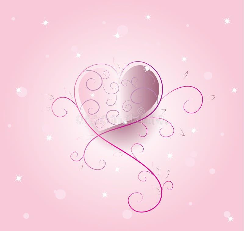 Vettore romantico del cuore illustrazione di stock