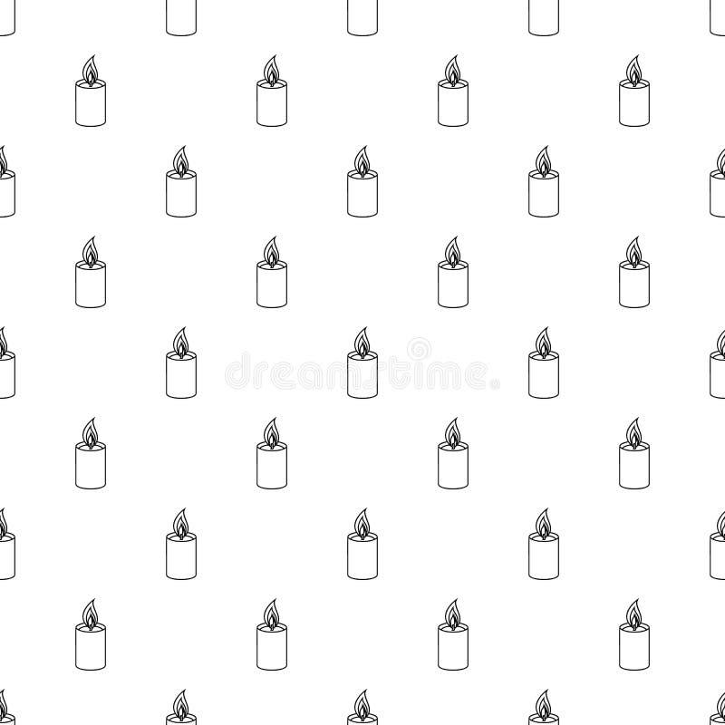 Vettore romanzesco del modello della candela senza cuciture royalty illustrazione gratis