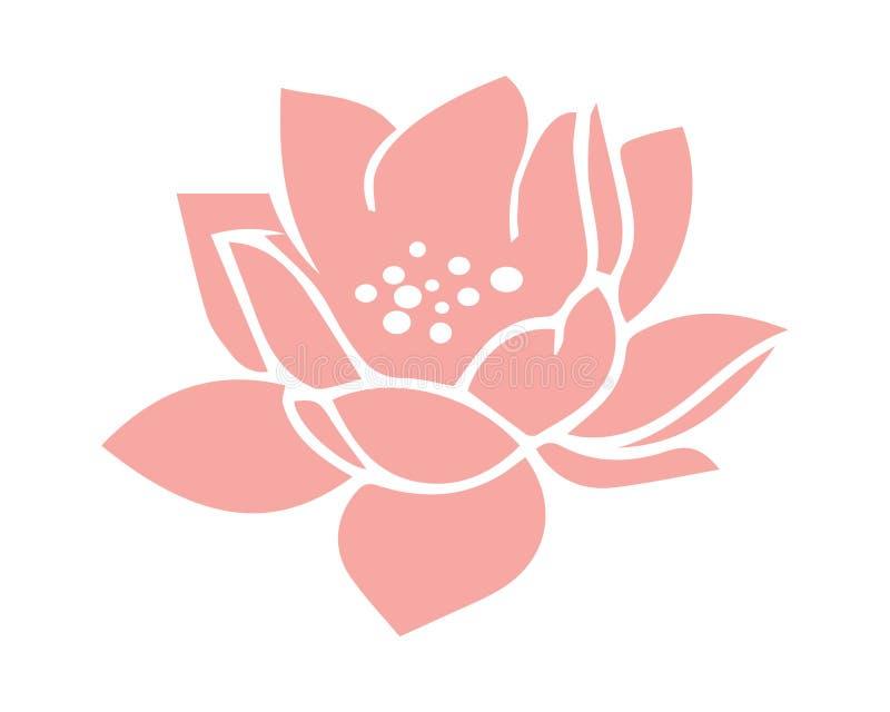 Vettore rosa del fiore della ninfea del loto illustrazione vettoriale