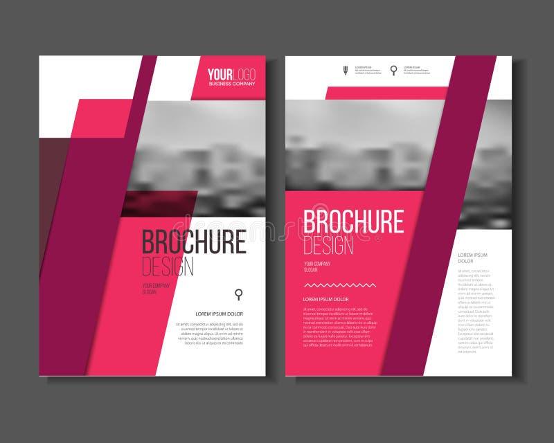 Vettore rosa dell'opuscolo di affari di vettore o del modello del rapporto annuale, royalty illustrazione gratis