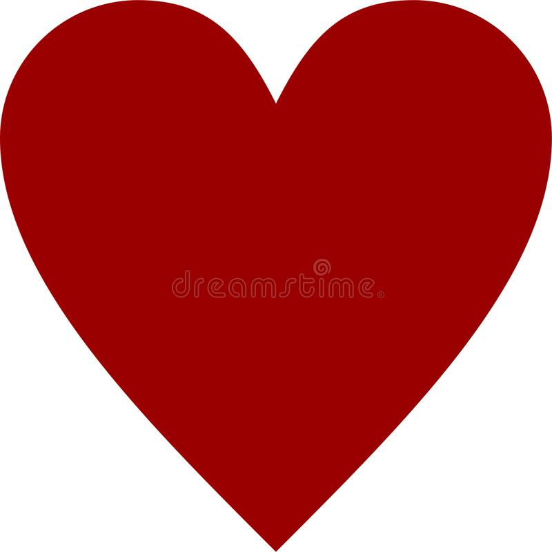 Vettore rosso del cuore di clipart royalty illustrazione gratis