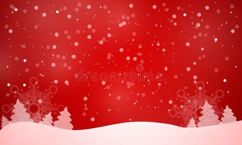 Vettore rosso del fondo di Natale elegante illustrazione vettoriale