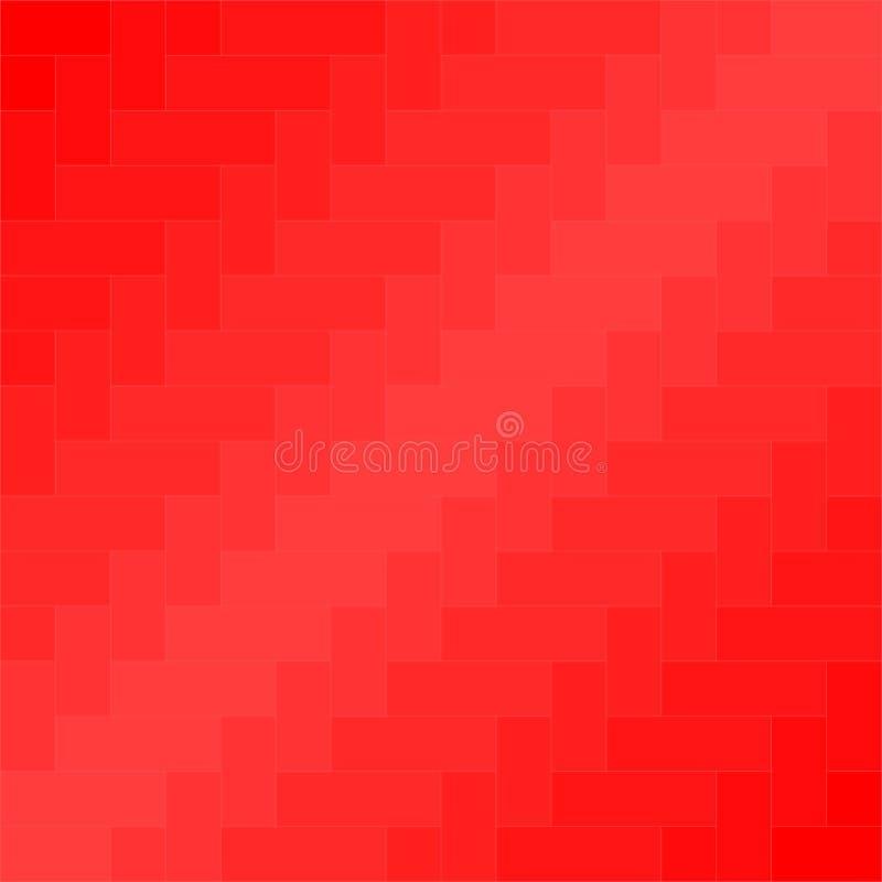 Vettore rosso del fondo del modello del tessuto illustrazione vettoriale