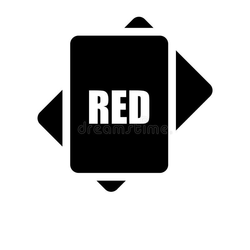 Vettore rosso dell'icona isolato su fondo bianco, concetto di logo di Re royalty illustrazione gratis