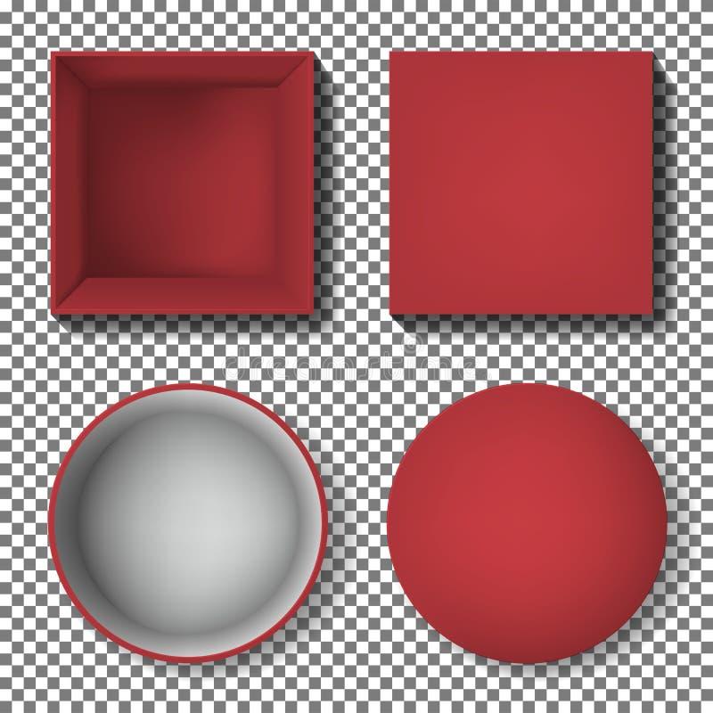 Vettore rosso della scatola royalty illustrazione gratis