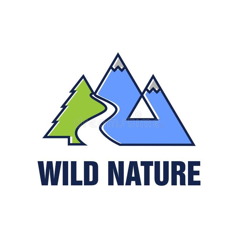 Vettore selvaggio Logo Template della natura illustrazione vettoriale