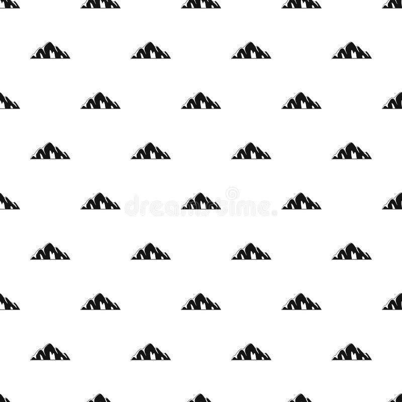 Vettore senza cuciture del bello modello della montagna illustrazione di stock
