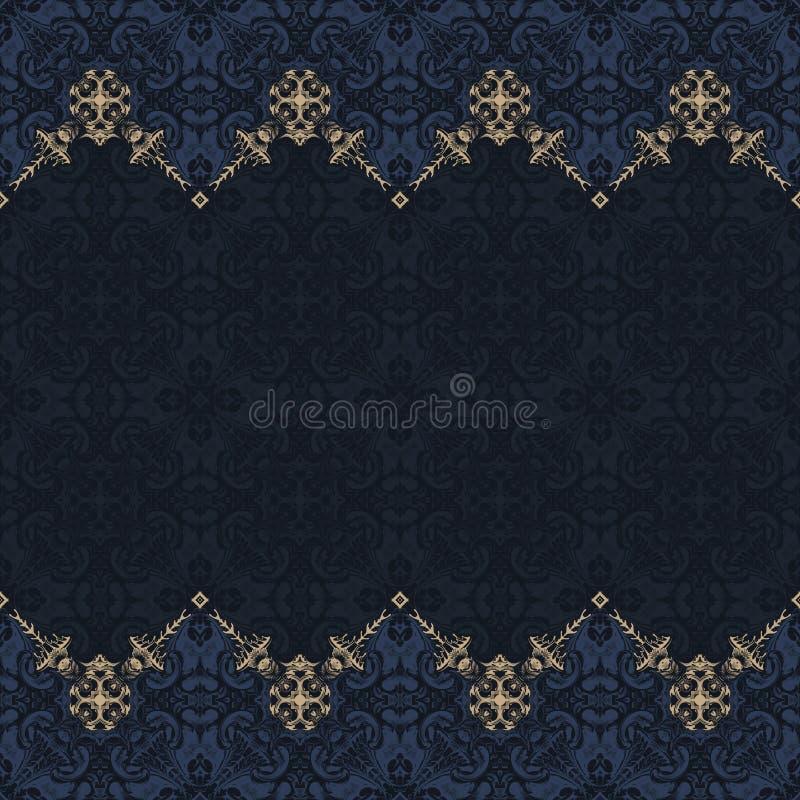 Vettore senza cuciture del confine decorato nello stile orientale Modello di Islam royalty illustrazione gratis