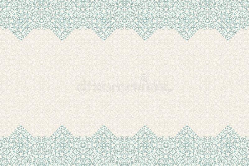 Vettore senza cuciture del confine decorato nello stile orientale Modello di Islam illustrazione vettoriale