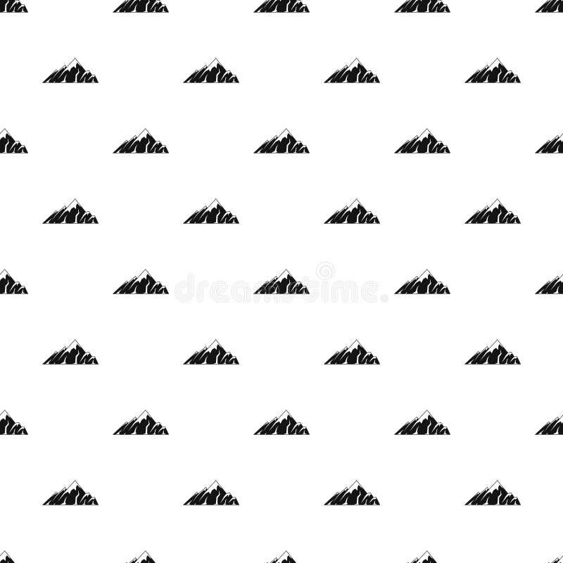 Vettore senza cuciture del modello alpino della montagna illustrazione di stock