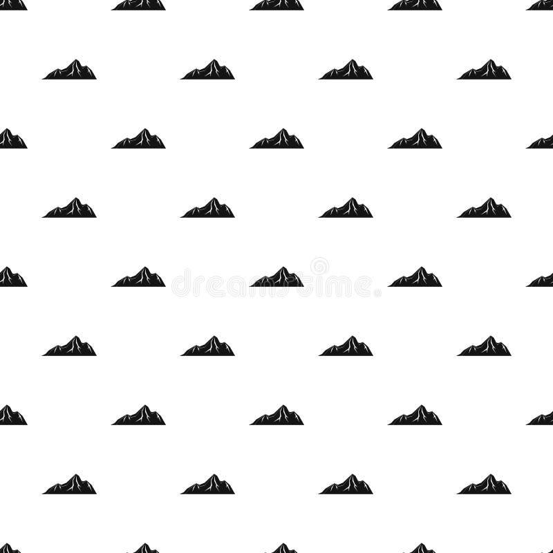 Vettore senza cuciture del modello alto della montagna royalty illustrazione gratis
