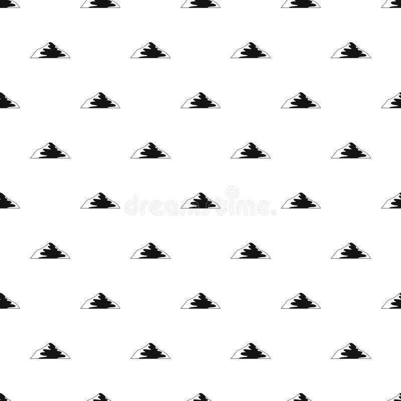 Vettore senza cuciture del modello asiatico della montagna illustrazione vettoriale
