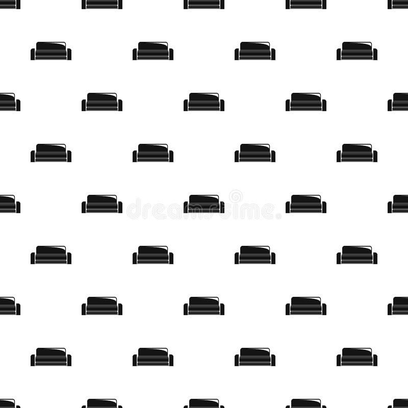 Vettore senza cuciture del modello basso del sofà illustrazione di stock