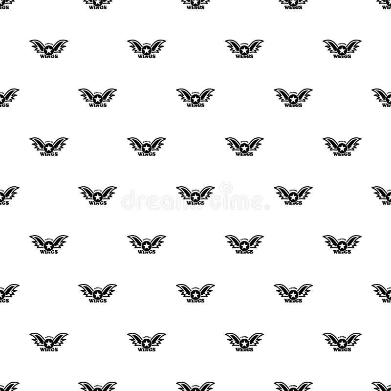 Vettore senza cuciture del modello del combattente della stella delle ali royalty illustrazione gratis