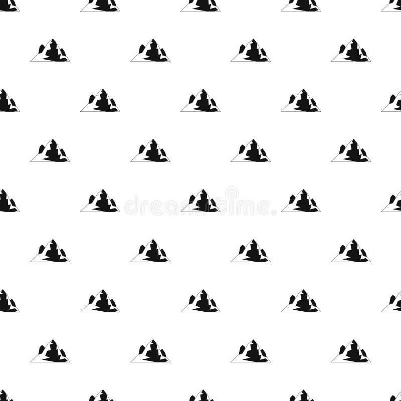 Vettore senza cuciture del modello dell'iceberg illustrazione di stock