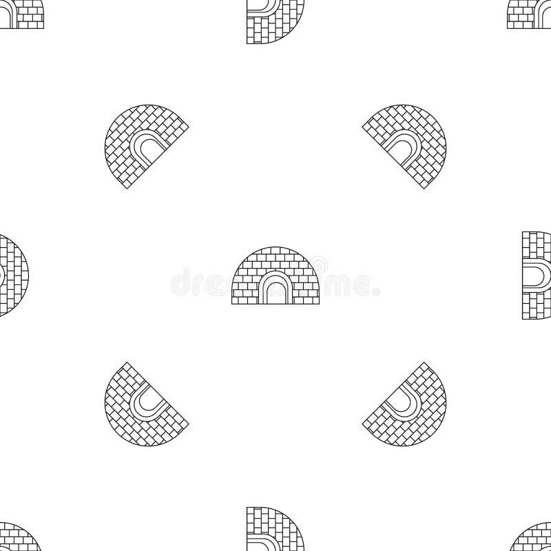 Vettore senza cuciture del modello dell'iglù illustrazione di stock