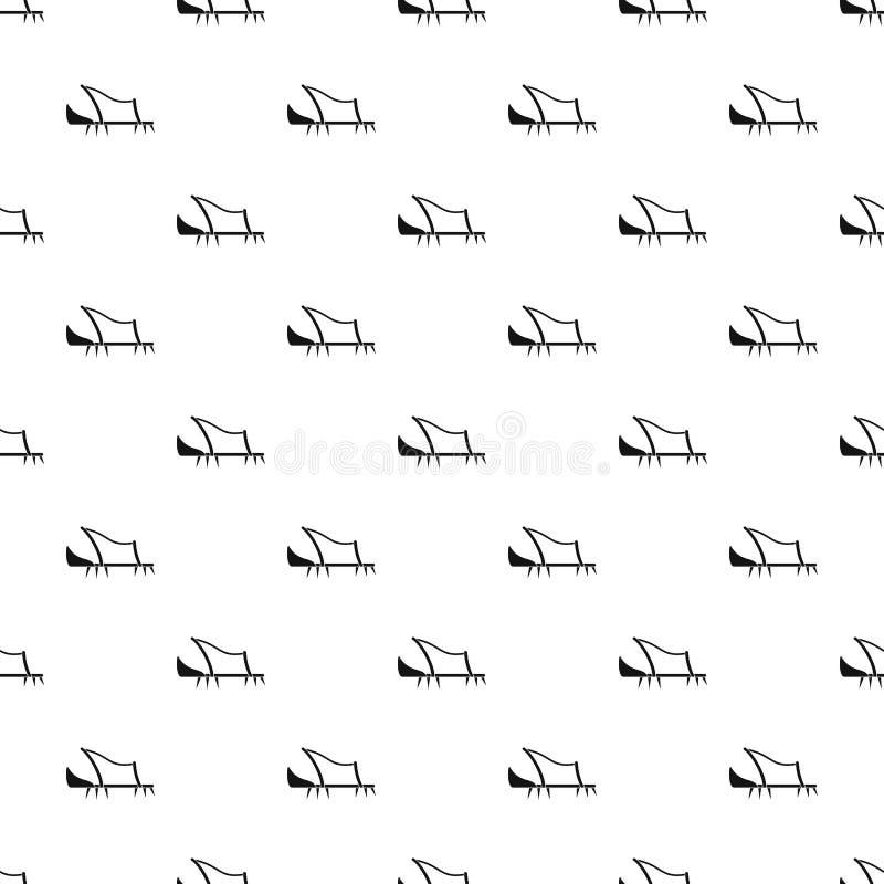 Vettore senza cuciture del modello della punta della scarpa illustrazione vettoriale