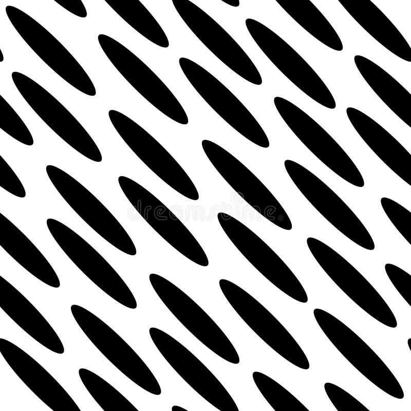 Vettore senza cuciture del modello di ellisse diagonale royalty illustrazione gratis