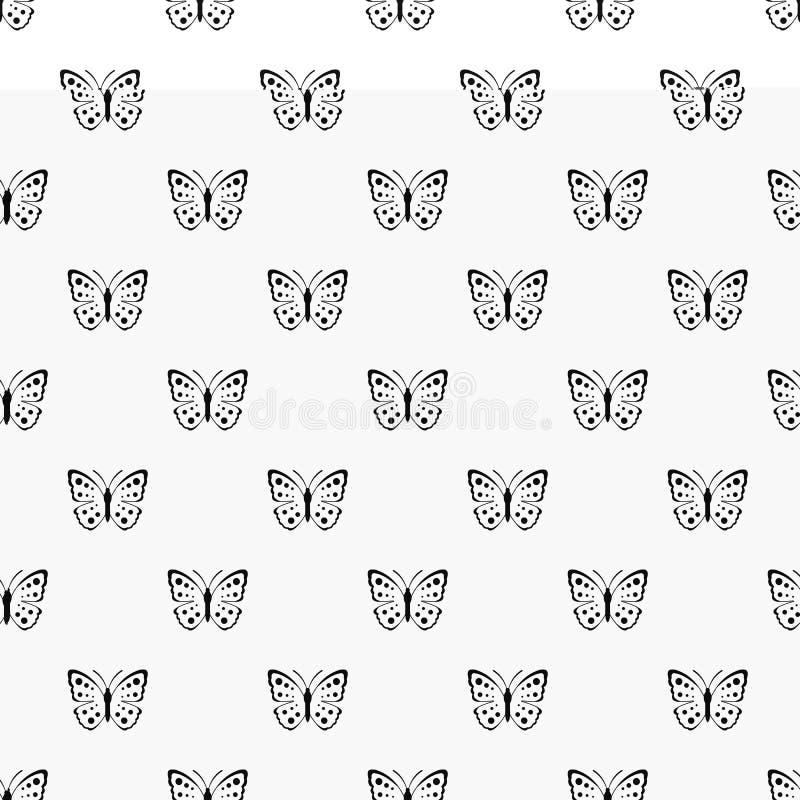 Vettore senza cuciture del modello di farfalla della primavera royalty illustrazione gratis