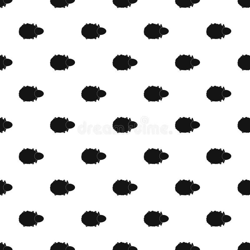 Vettore senza cuciture del modello di vista dell'aria delle pecore royalty illustrazione gratis