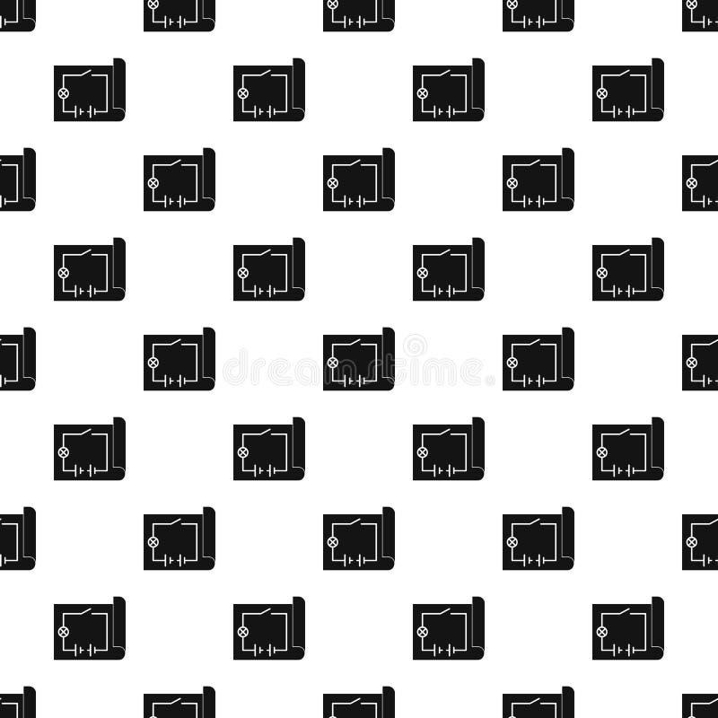 Vettore senza cuciture del modello elettrico di schema illustrazione di stock