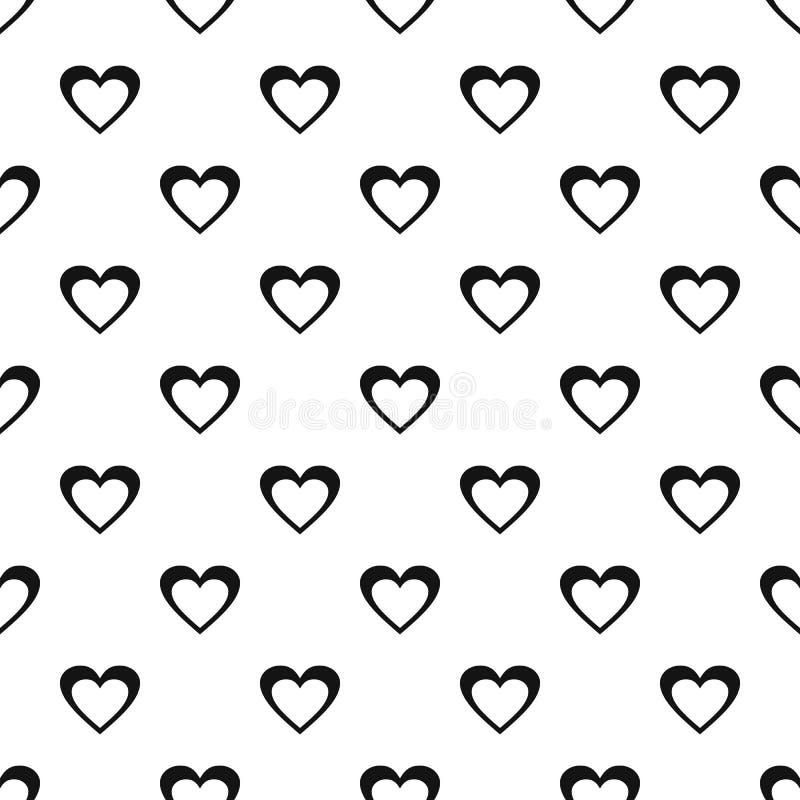 Vettore senza cuciture del modello enorme del cuore royalty illustrazione gratis