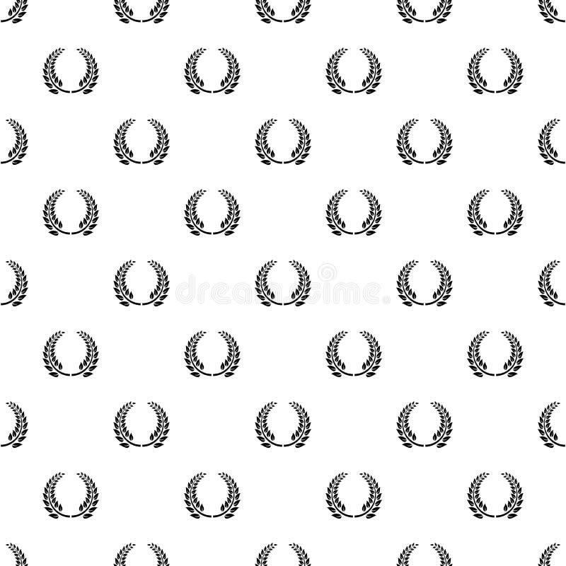 Vettore senza cuciture del modello floreale della corona illustrazione di stock
