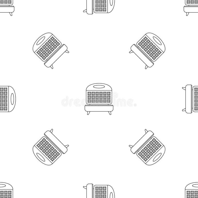 Vettore senza cuciture del modello del fornello della cialda illustrazione vettoriale