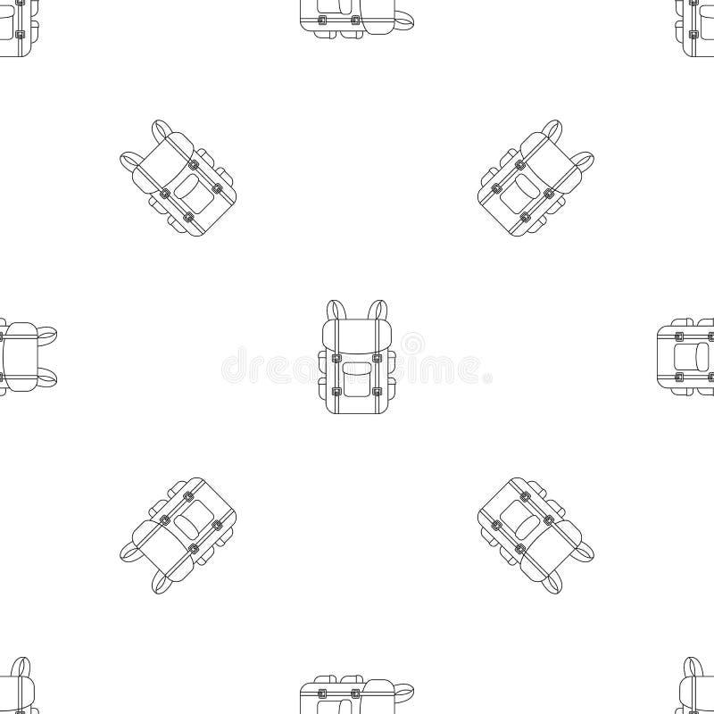 Vettore senza cuciture del modello militare dello zaino royalty illustrazione gratis