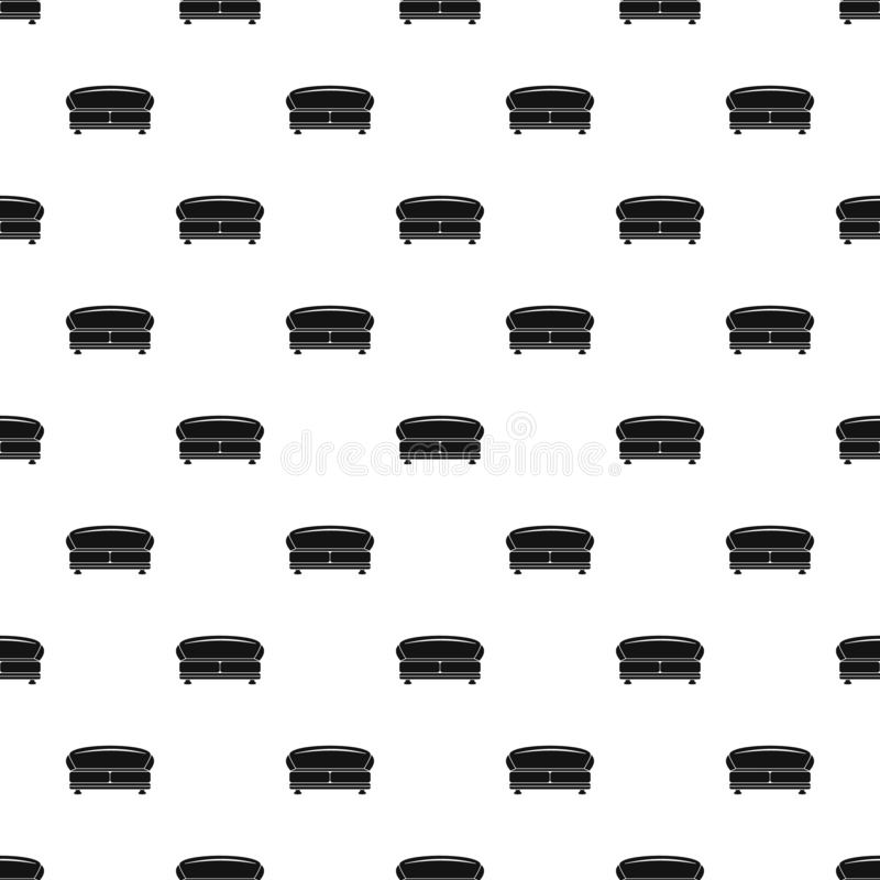 Vettore senza cuciture del modello ovale del sofà illustrazione di stock