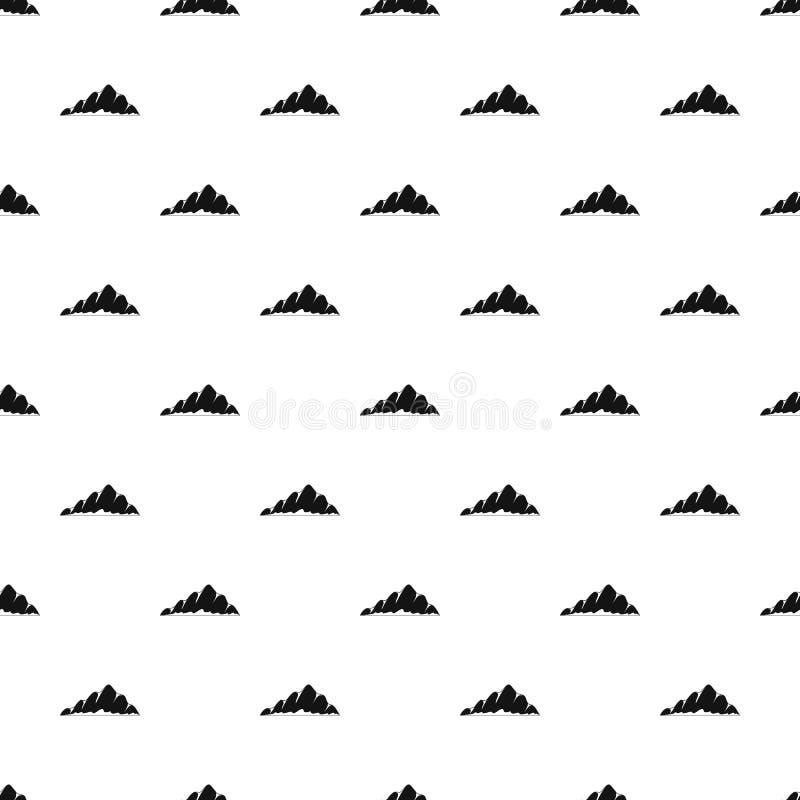 Vettore senza cuciture del modello del paesaggio della montagna illustrazione vettoriale