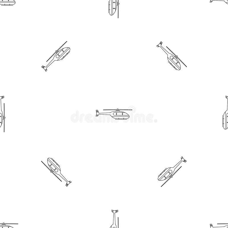 Vettore senza cuciture del modello pratico dell'elicottero royalty illustrazione gratis